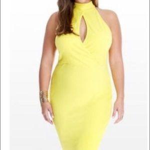 Fashion to Figure 3X yellow sleeveless dress